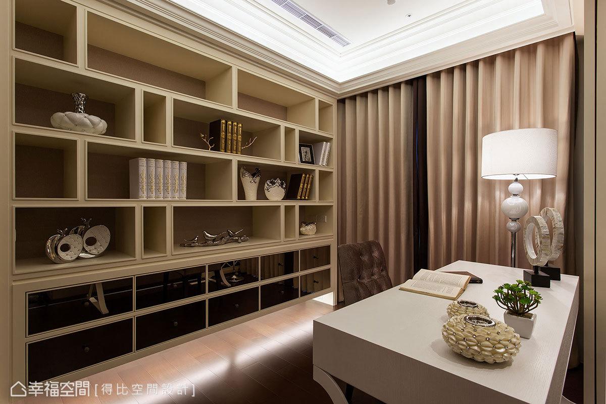 新古典 美学 收纳 小资 简约 客厅图片来自幸福空间在132平新古典美学的中庸之道的分享