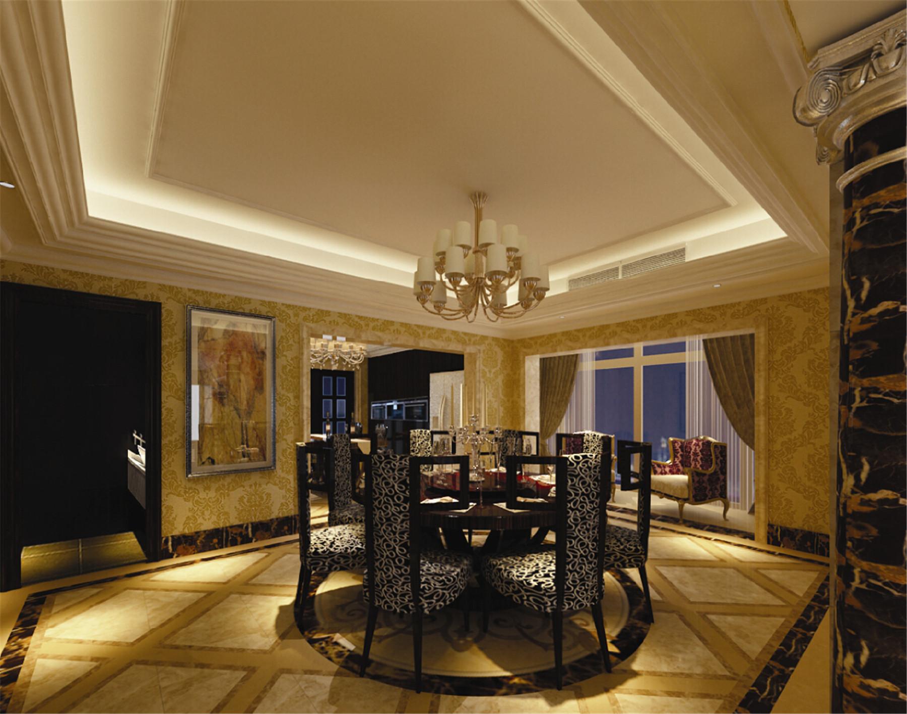皇都花园 别墅装修 别墅设计 欧式古典 腾龙设计 餐厅图片来自腾龙设计在皇都花园别墅装修欧式风格设计的分享