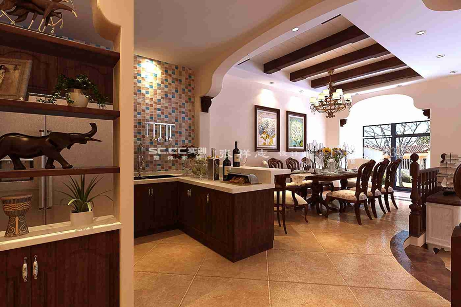 别墅 美式 实创 厨房图片来自快乐彩在别墅喜山美式乡村装修的分享
