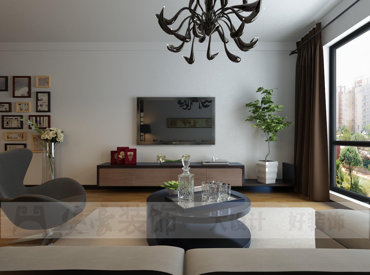 混搭 三居 白领 80后 小资 客厅图片来自安豪装饰在中央美域的分享