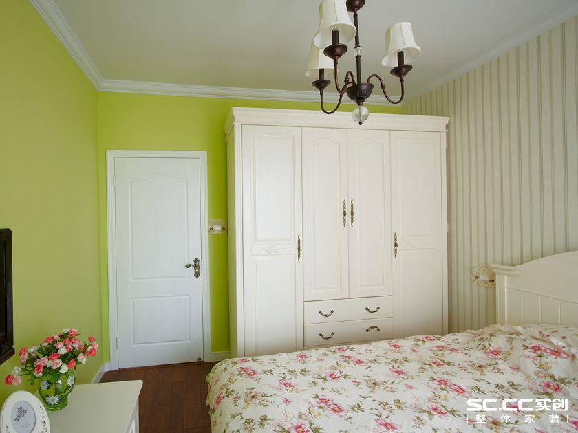 田园 二居 卧室图片来自实创装饰上海公司在乡村田园风格绿色空间的分享