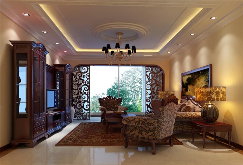 三居 白领 收纳 80后 小资 客厅图片来自实创装饰完美家装在滨河临镜苑二期150平三居美式风的分享