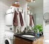 把洗衣机搬到浴室,极大了利用角落空间