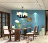 亚太花园三室新中式装修效果图