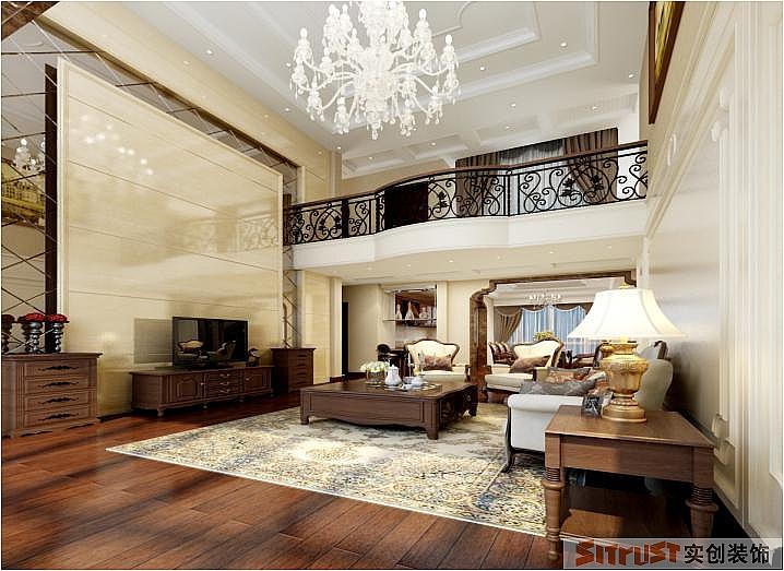 美景天城 美式 新古典 别墅 230平米 客厅图片来自郑州实创-整套家装在美景天城美式新古典别墅的分享