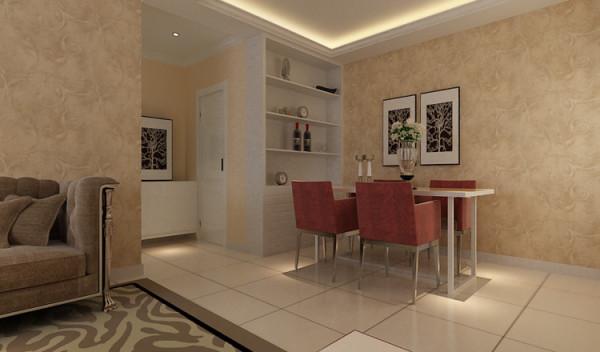 宏光蓝水岸 89平两居室 现代简约风格 装修设计案例-餐厅
