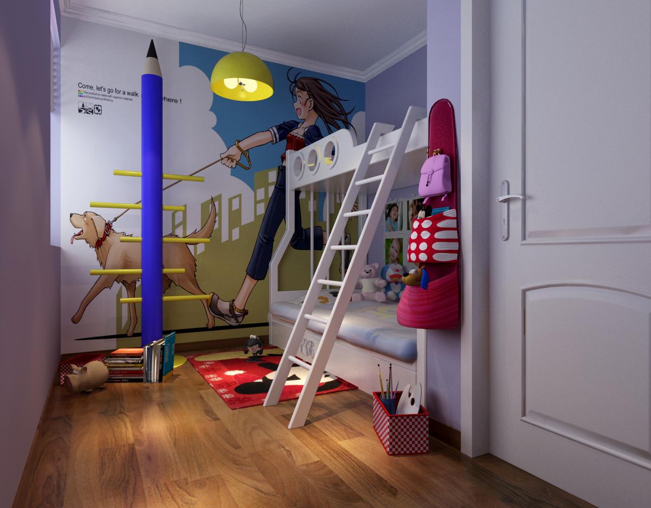 格林上东 118平米 三居室 欧式风格 装修设计 儿童房图片来自郑州实创-整套家装在格林上东三居室简欧风格装修的分享