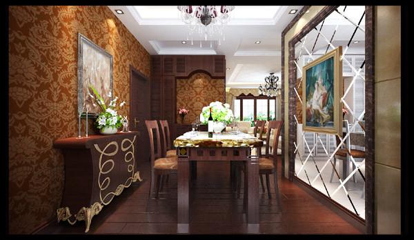 正商书香华府 118平三居室 奢华欧式风格 装修设计案例-餐厅方案设计