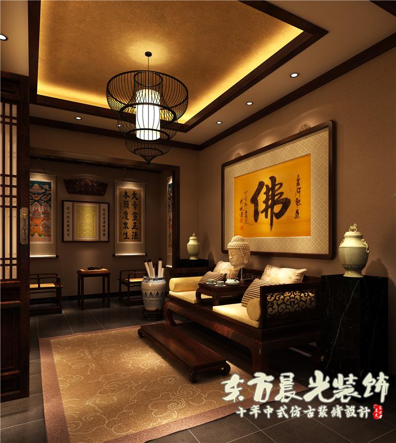四合院 中式 别墅 农村 小楼房 古典 四合院设计 室内设计 客厅图片来自北京东方晨光装饰公司在农村小楼房四合院设计的分享