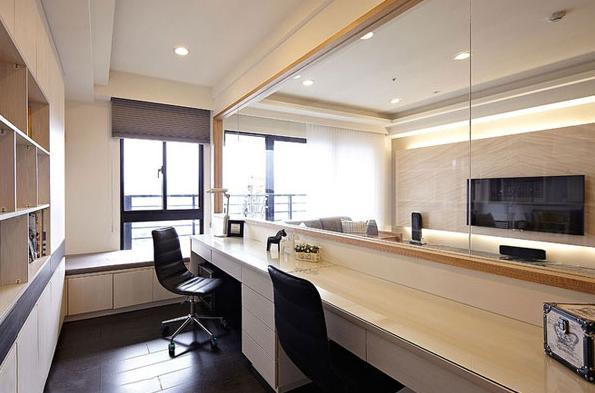 现代 日式 宜家 三居 小资 书房图片来自武汉实创装饰在日式宜家风现代居室的分享