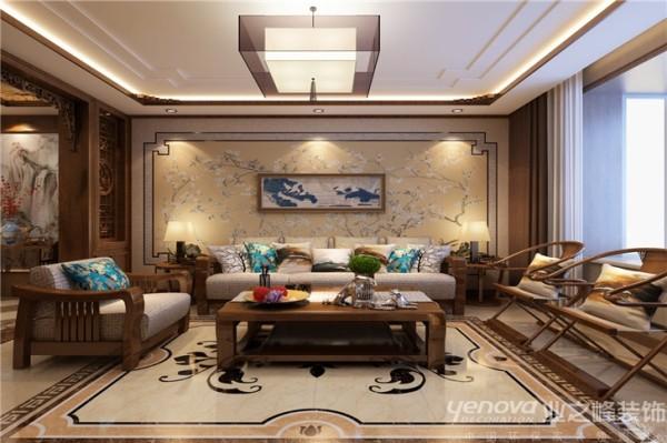 沙发家具等没有过多的引入实木家具,而是现代布艺沙发及板式茶几与电视柜,一款别致独特的地毯把这些家具陪衬的更是锦上添花---