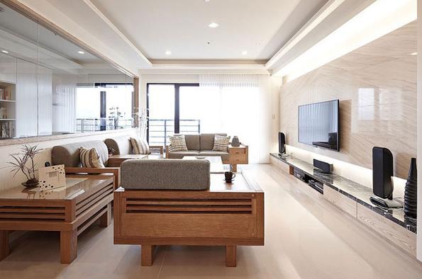 现代 日式 宜家 三居 小资 客厅图片来自武汉实创装饰在日式宜家风现代居室的分享