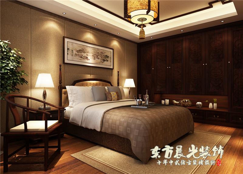 四合院 中式 别墅 农村 小楼房 古典 四合院设计 室内设计 卧室图片来自北京东方晨光装饰公司在农村小楼房四合院设计的分享