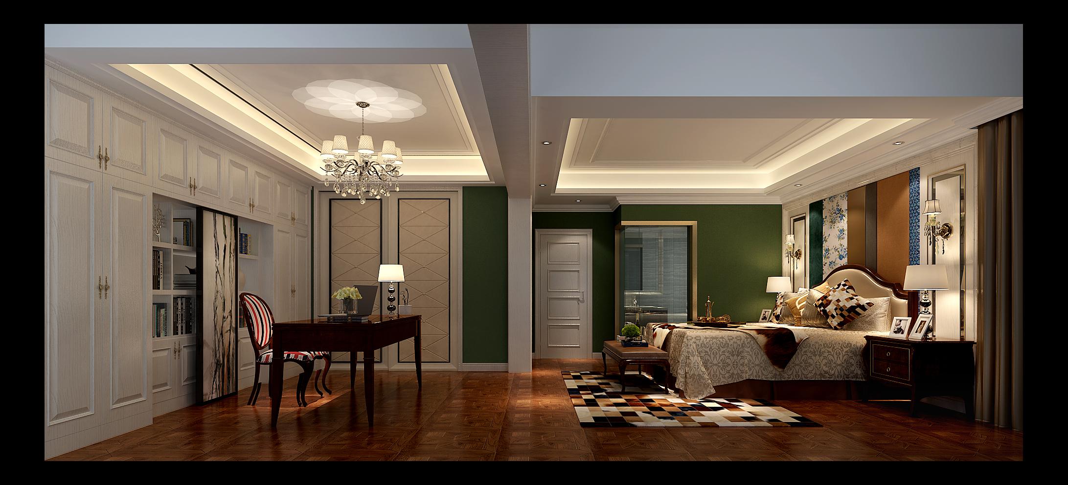 卧室图片来自湖南点石家装在新贵风格作品的分享