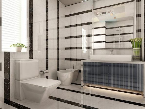 三居 现代 简约 收纳 小资 卫生间图片来自武汉实创装饰在国际百纳现代简约风95平美居的分享