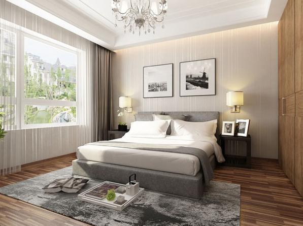 三居 现代 简约 收纳 小资 卧室图片来自武汉实创装饰在国际百纳现代简约风95平美居的分享