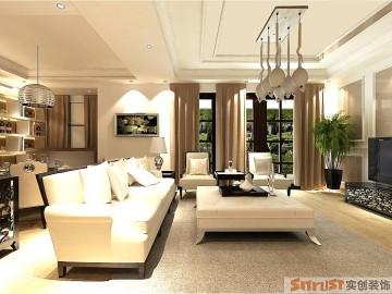 大观国际现代三居室装修案例