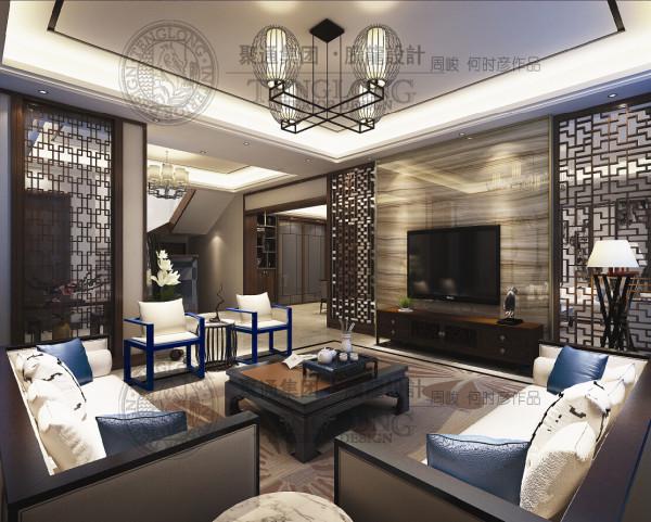 金地格林别墅户型装修新中式风格设计方案展示,腾龙别墅设计师周峻作品,欢迎品鉴!