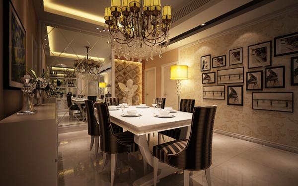 康桥金域上郡 117平三居室 简欧风格 装修设计案例-餐厅