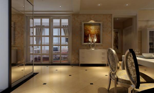 中力七里湾 137平三居室 现代欧式风格 装修设计案例-客厅