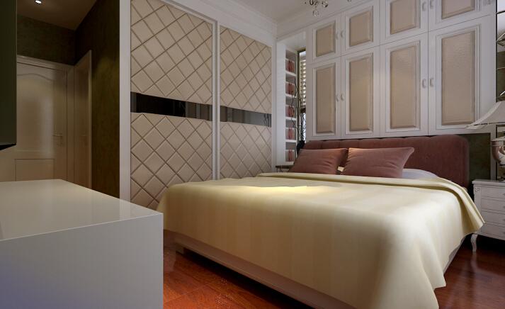 中力七里湾 欧式 三居 装修设计 效果图 卧室图片来自夏曼在中力七里湾 三居 现代欧式风格的分享
