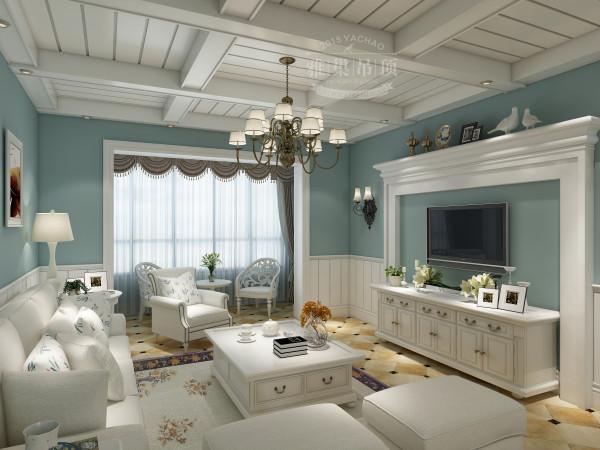 雅巢客厅吊顶效果图 美图