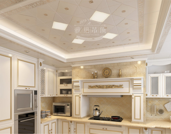 欧式风格厨房吊顶效果图
