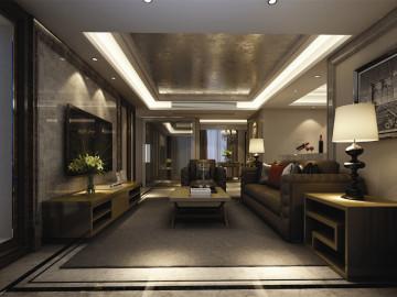 君悦苑装修设计新古典美式风格
