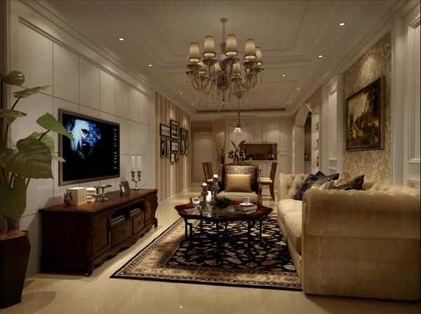 金轩大邸户型装修美式风格设计方案展示,腾龙别墅设计师林财表作品,欢迎品鉴!
