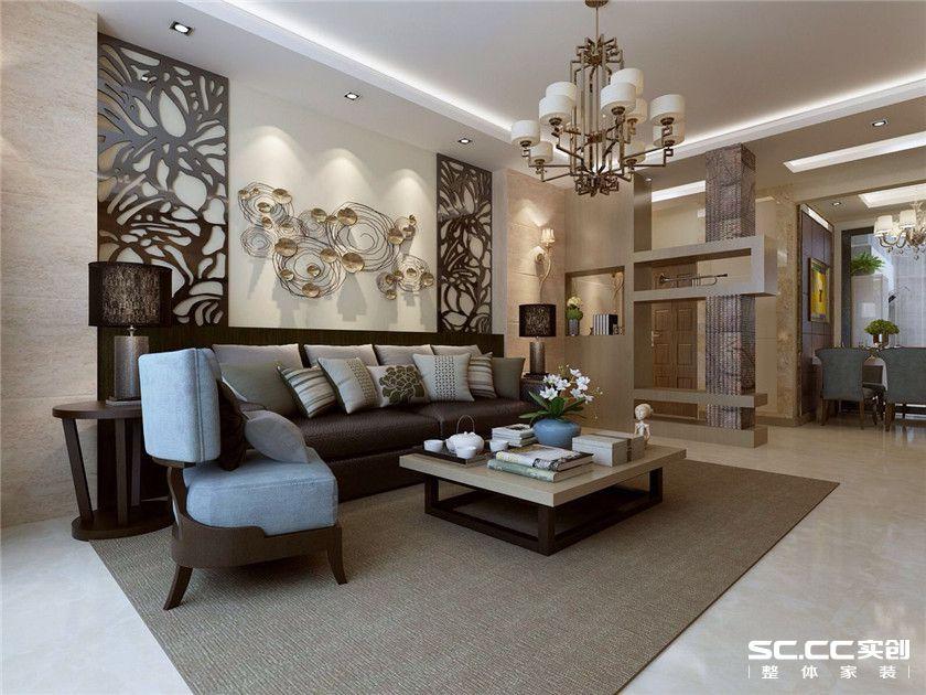 三居 港式 客厅图片来自实创装饰晶晶在95平港式浓情卡布奇诺小三居的分享