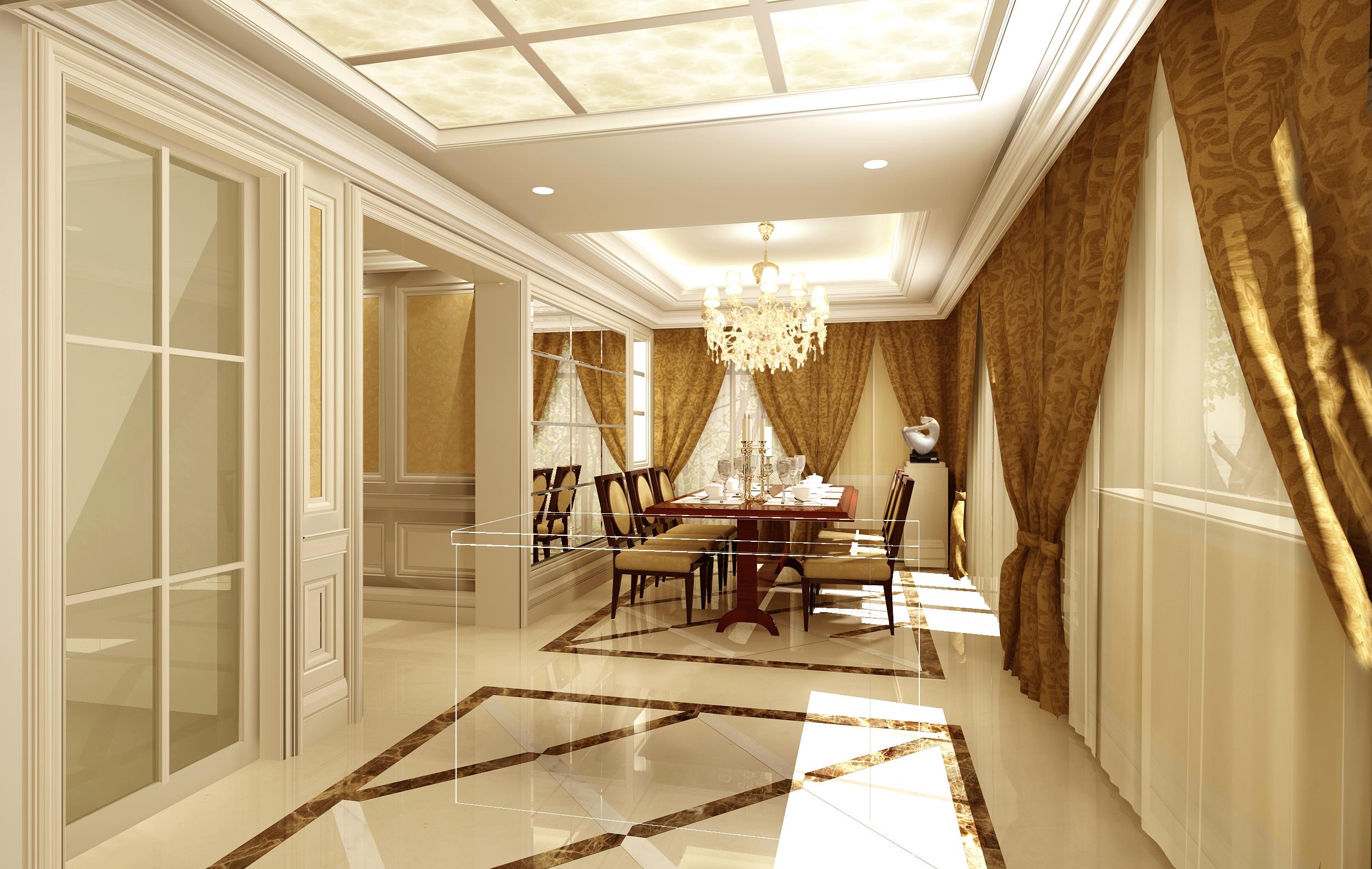 欧式 餐厅图片来自湖南点石家装在中海钱塘样板房的分享