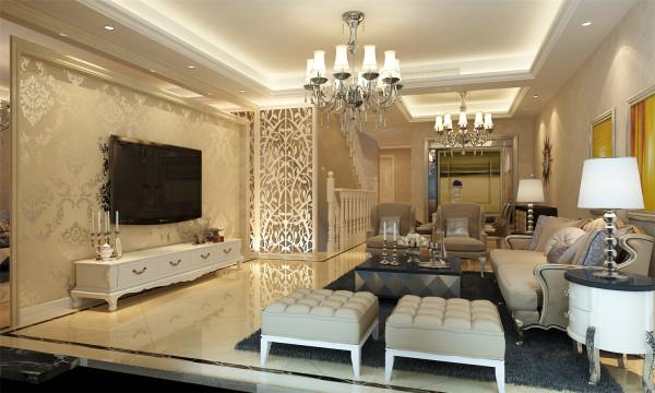 绿地香颂别墅户型装修现代欧式风格设计方案展示,腾龙别墅设计师徐峻作品