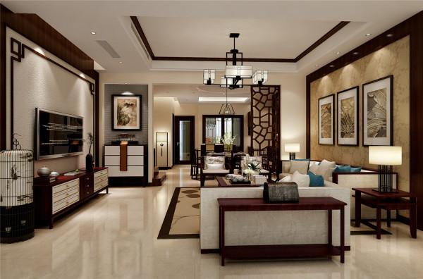 绿地曼哈顿别墅户型装修简约中式风格设计方案展示,腾龙别墅设计林财表作品,欢迎品鉴
