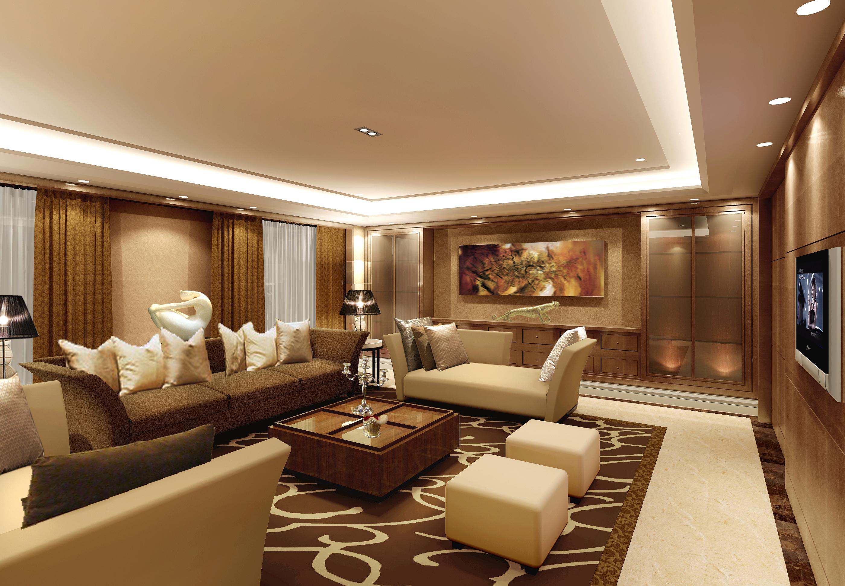 欧式 客厅图片来自湖南点石家装在中海钱塘样板房的分享