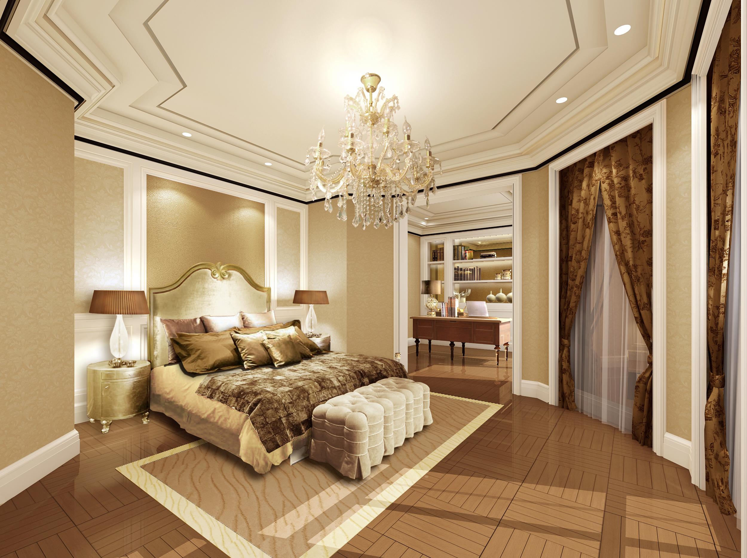 欧式 卧室图片来自湖南点石家装在中海钱塘样板房的分享