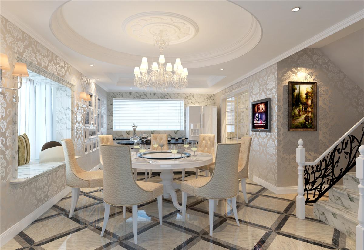 南郊中华园 别墅装修 别墅设计 欧式风格 腾龙设计 餐厅图片来自腾龙设计在南郊中华园别墅装修简约欧式风格的分享
