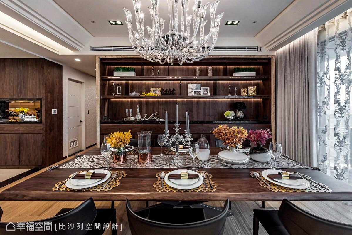 三居 收纳 现代 人文 简约 餐厅图片来自幸福空间在303平现代人文视觉乡宴的分享
