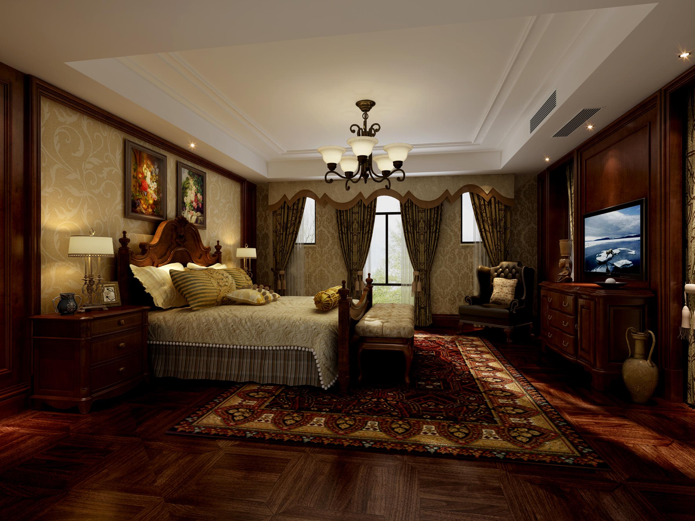 南郊中华园 别墅装修 别墅设计 欧式风格 腾龙设计 孔继民作品 卧室图片来自腾龙设计在南郊中华园别墅简约欧式风格的分享