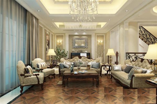 南郊中华园275平别墅户型装修欧式风格设计方案展示,腾龙别墅设计师劳纳作品,欢迎品鉴!