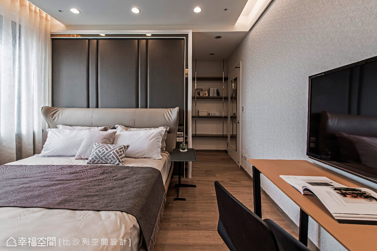 三居 收纳 现代 人文 简约 卧室图片来自幸福空间在303平现代人文视觉乡宴的分享