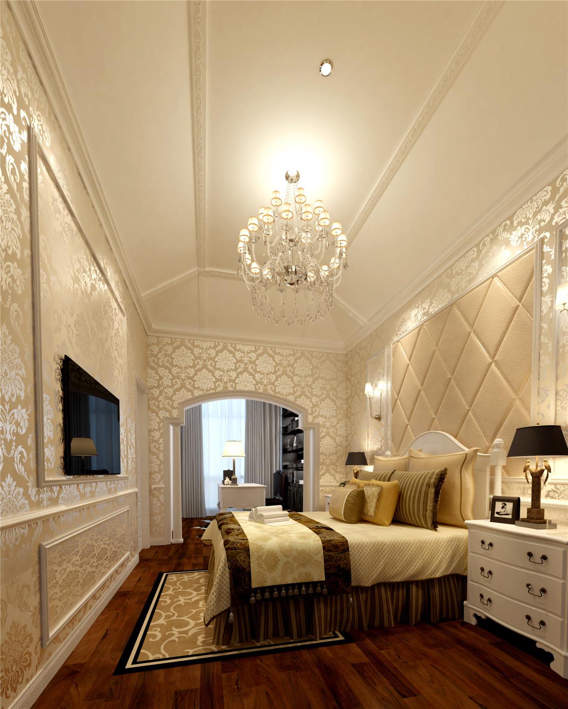 南郊中华园 别墅装修 别墅设计 欧式风格 腾龙设计 卧室图片来自腾龙设计在南郊中华园别墅装修简约欧式风格的分享