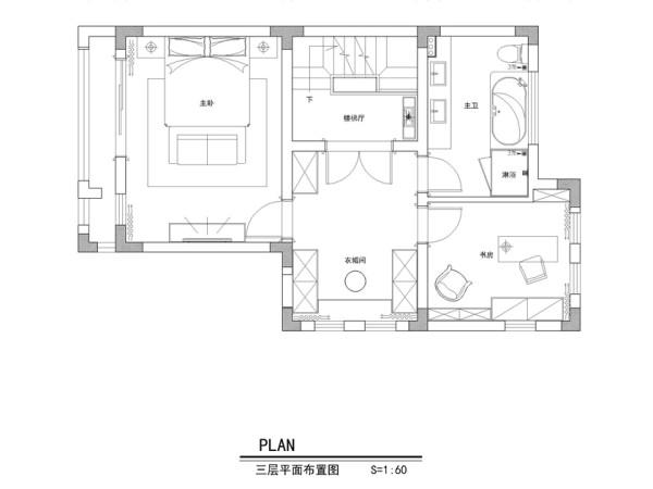 保利紫晶山292平别墅-三层平面布置图