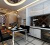 开平小区 四居室 简约风格装修设计案例 效果图-餐厅
