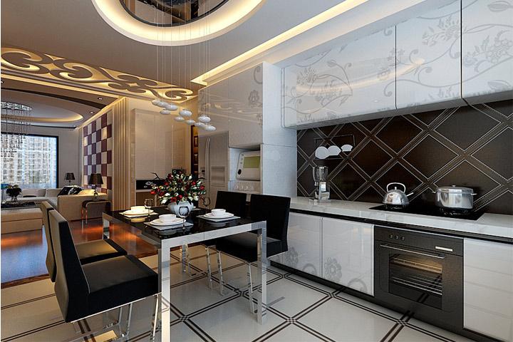 开平小区 四居 现代 装修 餐厅图片来自夏曼在开平小区 四居室 简约风格装修的分享