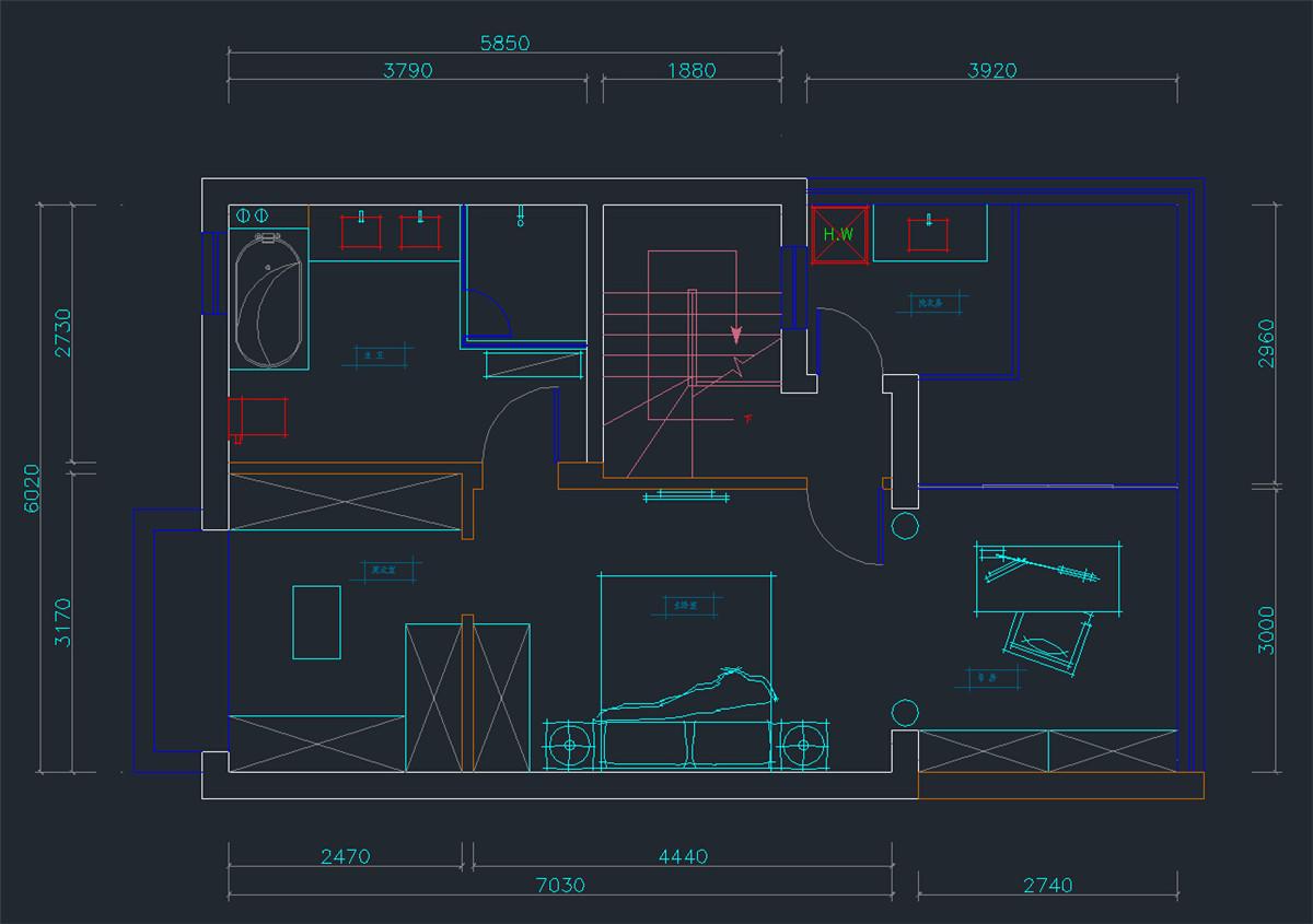 南郊中华园 别墅装修 别墅设计 欧式风格 腾龙设计 户型图图片来自腾龙设计在南郊中华园别墅装修简约欧式风格的分享