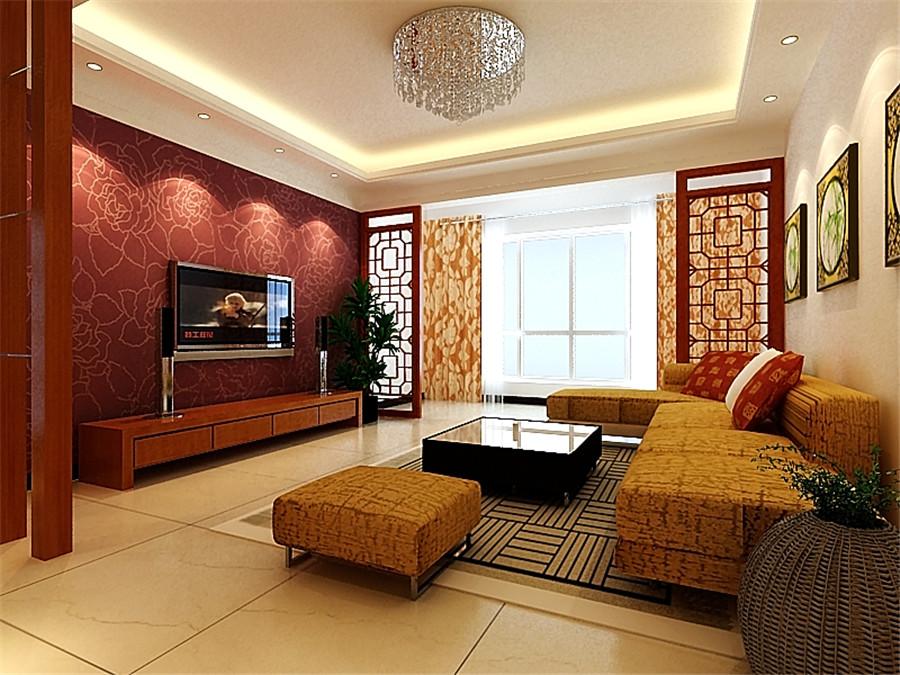 亚星城市 新中式 三居室 中式风格 装修设计 客厅图片来自郑州实创-整套家装在亚星城市山水中式风格装修案例的分享