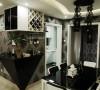 钻石形状的吧台,包围空间突出的阳角;增加功能性和视觉舒适性。