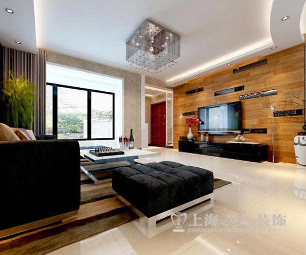 现代简约紫荆尚都138平装修效果——客厅