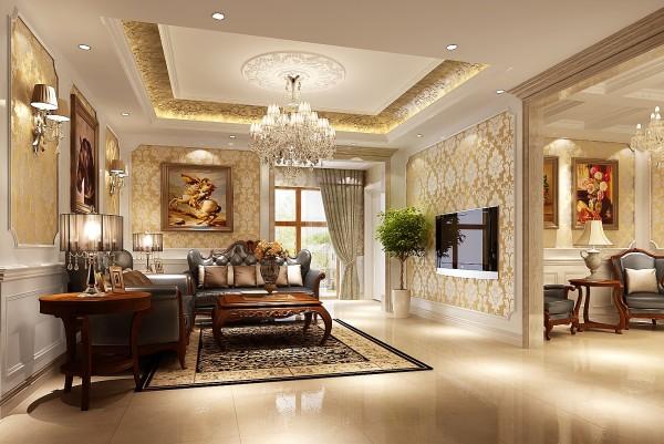 生活家装饰--V7西园三居简欧风格客厅装修效果图