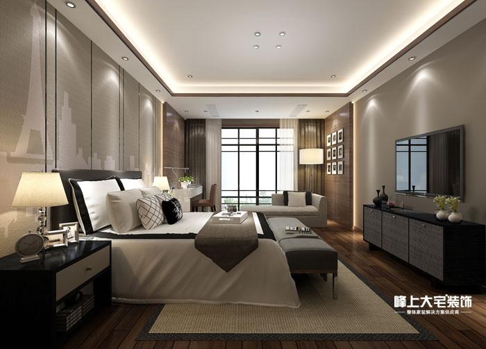 卧室图片来自峰上大宅装饰长沙在敔山岭秀平墅-现代风格的分享